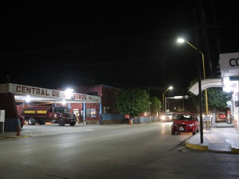 Instalan 100 luminarias en San Pedro