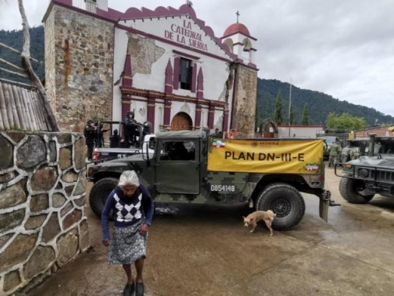 Instalan albergues en los Ozolotepec para damnificados