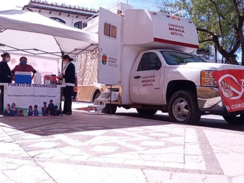 Instalan autoridades estaciones sanitarias en SCLC