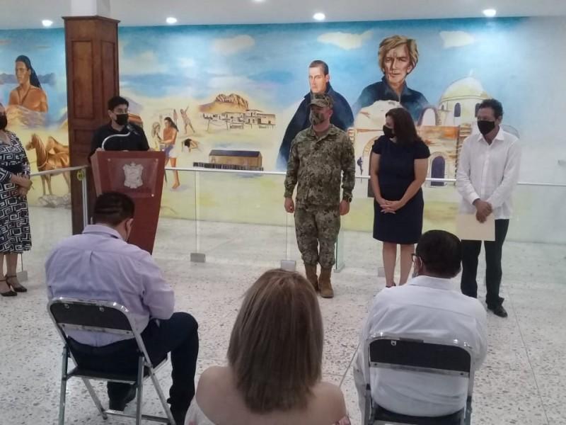 Instalan Cañón Histórico en Auditorio Cívico