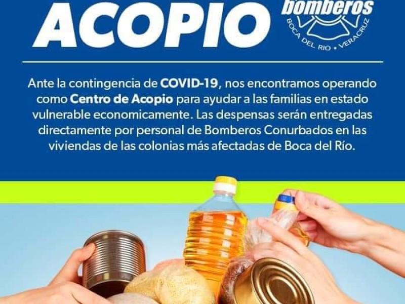 Instalan centro de acopio para personas vulnerables por contingencia