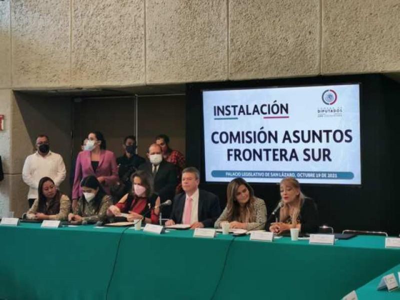 Instalan Comisión de Asuntos de la Frontera Sur