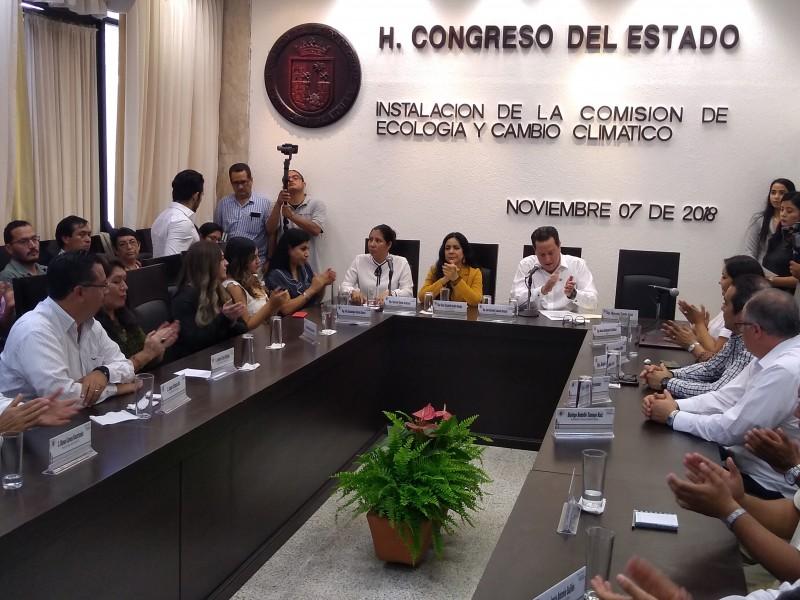 Instalan Comisión de Ecología y Cambio Climático