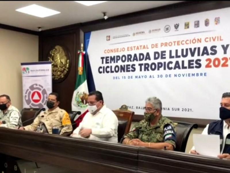 Instalan Consejo Estatal de Protección Civil ante Huracán
