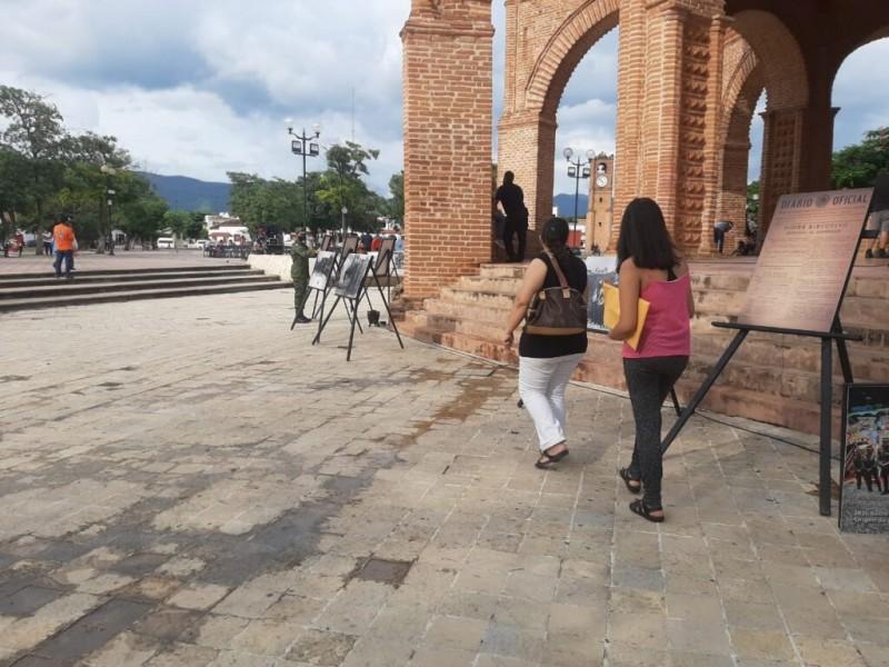 Instalan en Chiapa de Corzo exposición fotográfica de la SEDENA
