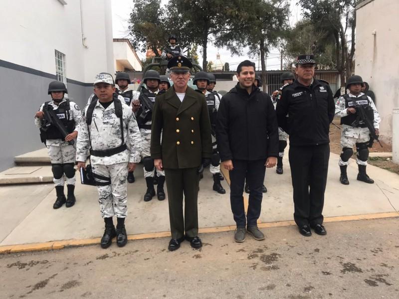 Instalan en Guadalupe dos bases de la Guardia Nacional