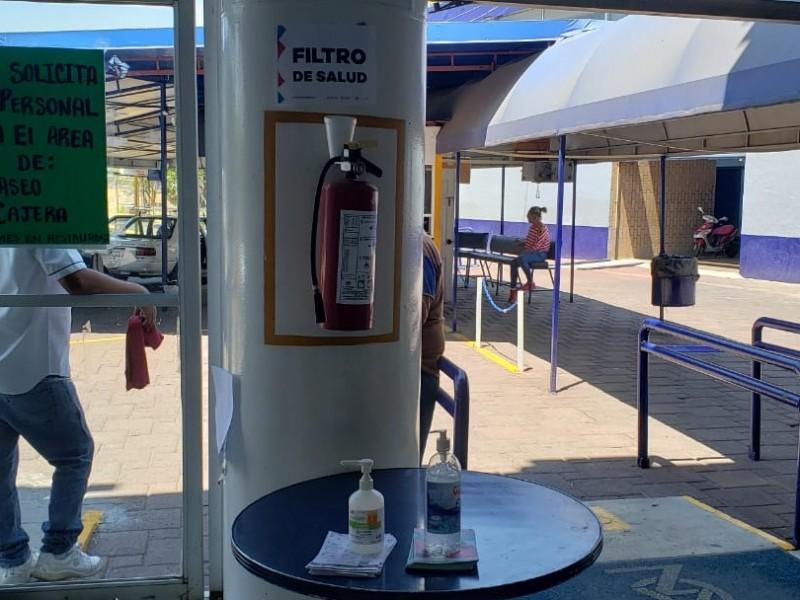 Instalan filtro sanitario en Central de Autobuses