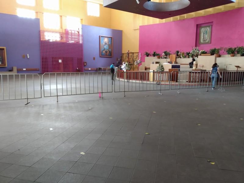 Instalan filtros sanitarios en iglesia de Guadalupe en Tuxtla Gutiérrez