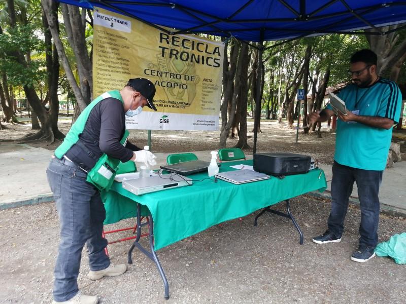 Instalan módulos de reciclaje de electrónicos en Tuxtla Gutiérrez