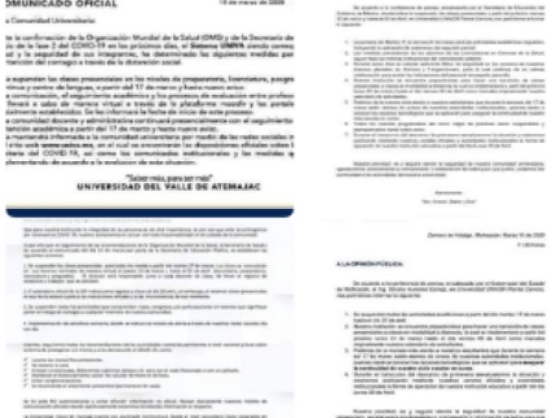 Instituciones educativas en Zamora, suspenden actividades por coronavirus