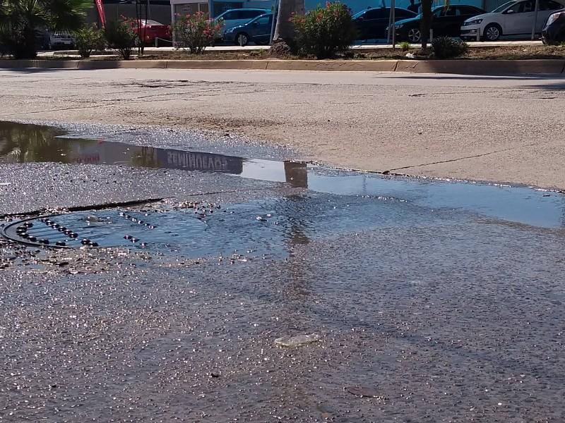 Insuficiente sistema de drenaje en Ahome