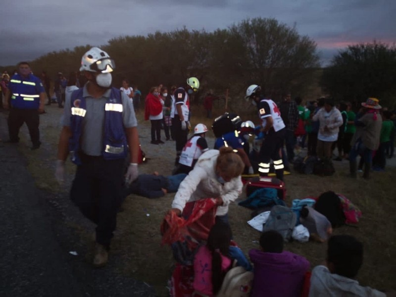 Integrantes de FRENAAA sufren accidente en Tamaulipas