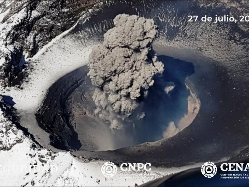 Intensa actividad del Popocatépetl