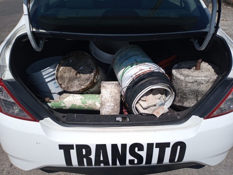 Intensifican operativo contra apartado de estacionamientos en Tuxpan