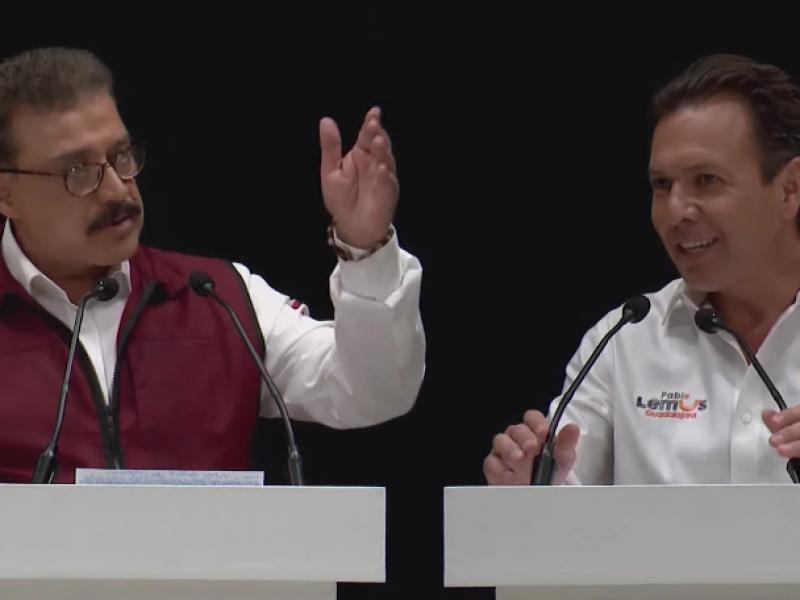 Intercambian ataques Carlos Lomelí y Pablo Lemus en debate electoral