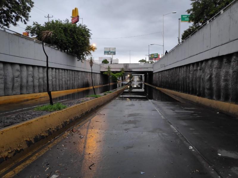 Inundaciones por lluvia de la madruga en ZMG