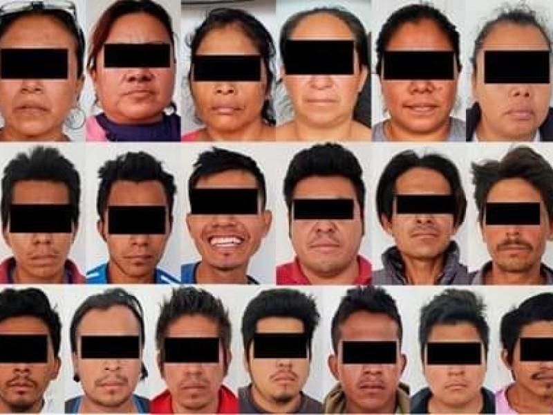 Invasores del predio Loma Larga, al Amate