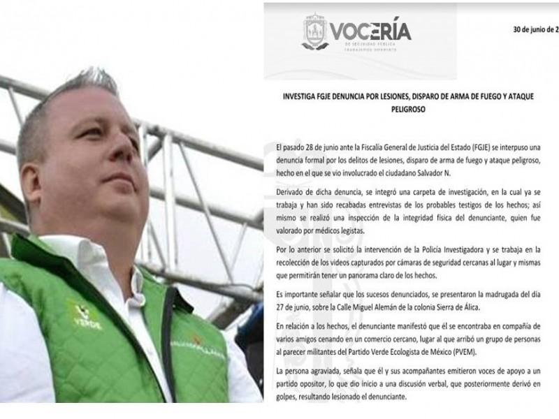 Investigan a Salvador Llamas por presunta agresión