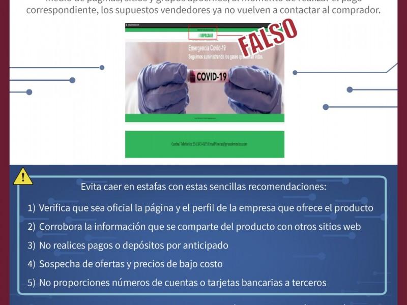 Investigan fraudes en venta de tanques de oxígeno en línea