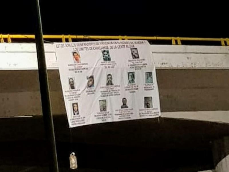 Investigan narcomantas colocadas en Guaymas