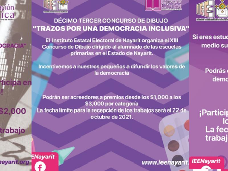 Invita el IEEN a participar en concursos cívicos