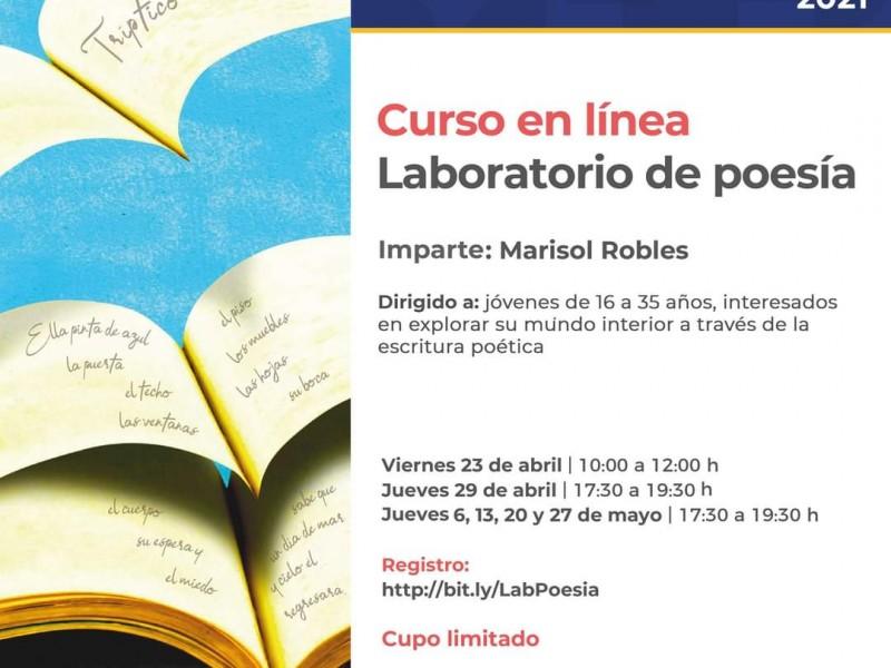 Invitan a participar en curso en línea de poesía