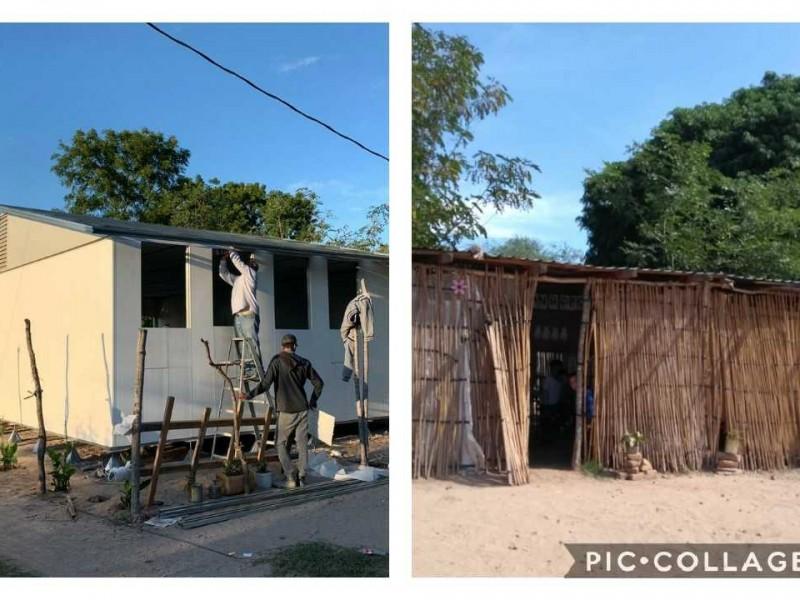 ISIFE, construye escuela a niños de Santa Lucía