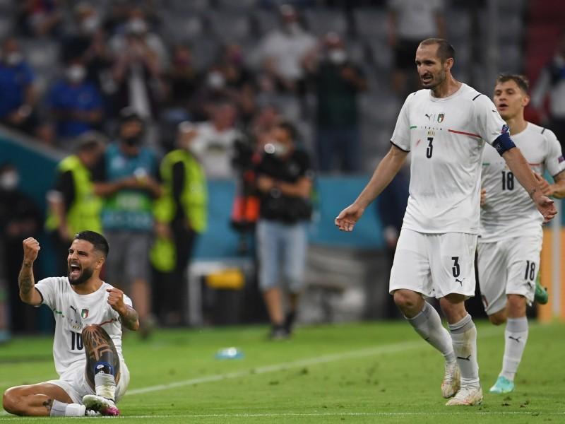 Italia semifinalista. Se enfrentará a España en Wembley