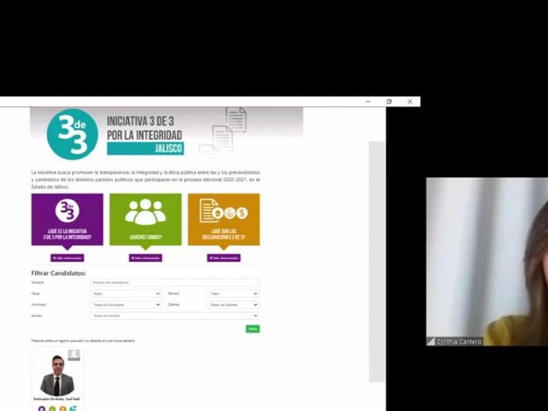 ITEI presenta plataforma 3de3 para aspirantes a puestos de elección