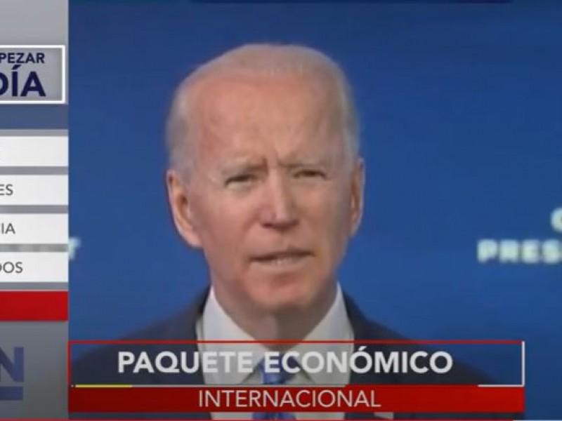 Joe Biden presenta paquete económico por 1.9 billones de dólares