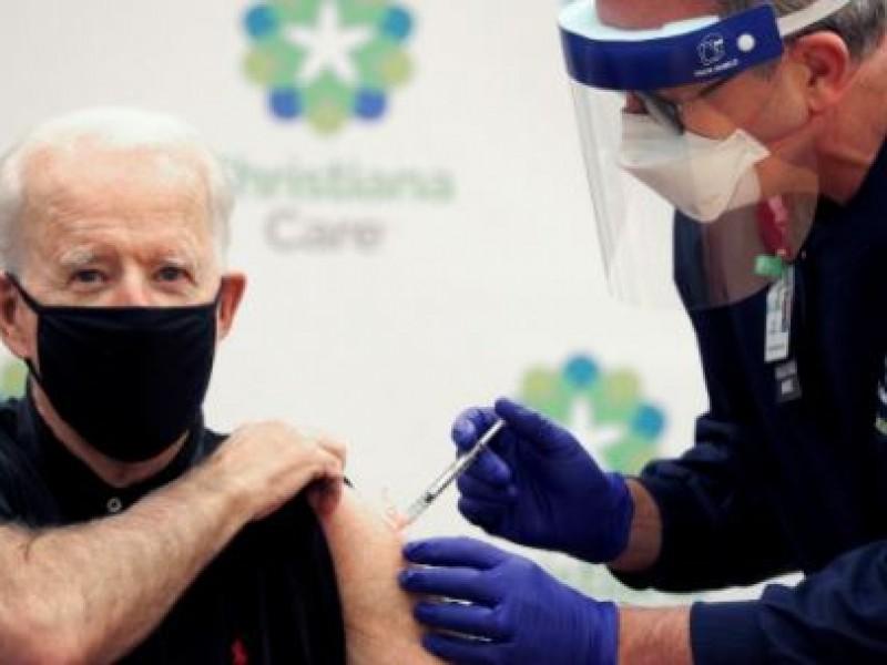 Joe Biden recibe segunda dosis de la vacuna contra COVID-19