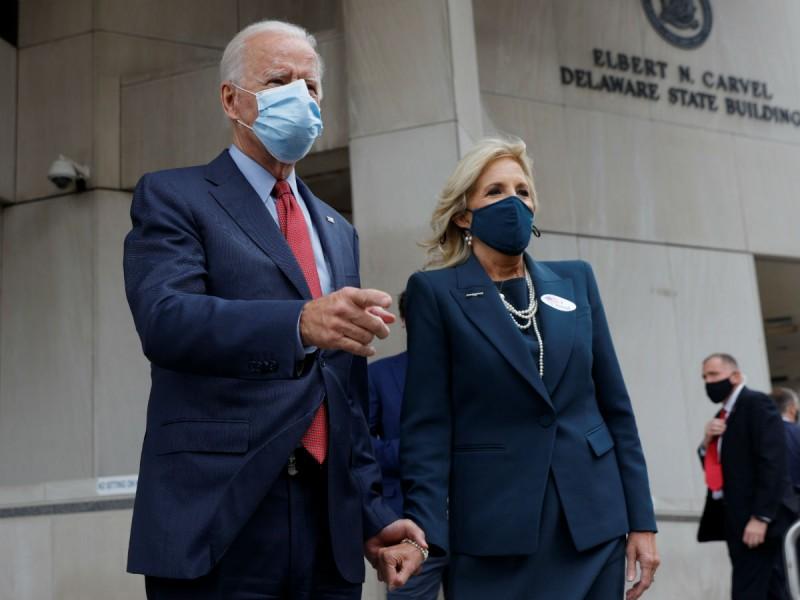 Joe Biden vota por anticipado en las elecciones presidenciales