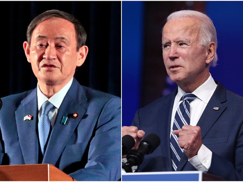 Joe Biden, y el primer ministro de Japón, se reúnen
