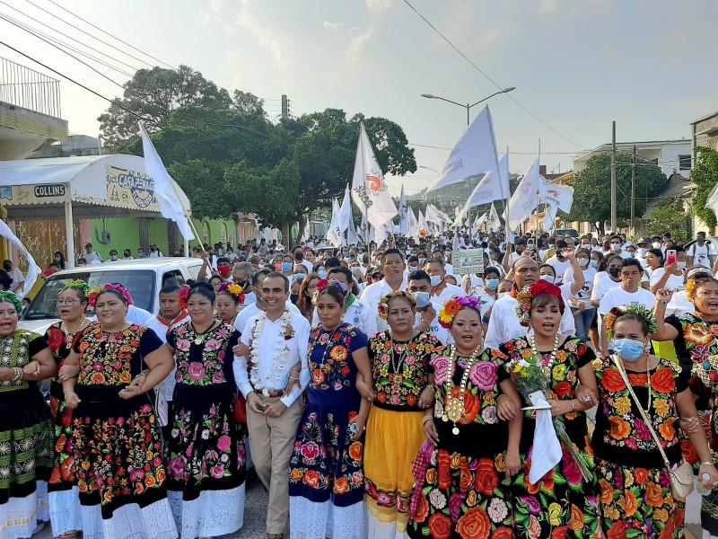 Jorge Arroyo cierra campaña a la presidencia de Salina Cruz