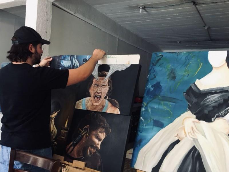 Jorge Robles,pintor Sinaloense reconocido por sus grandes obras artísticas.
