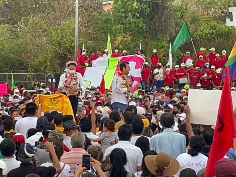 Jorge Sánchez cierra campaña proselitista ante miles de personas