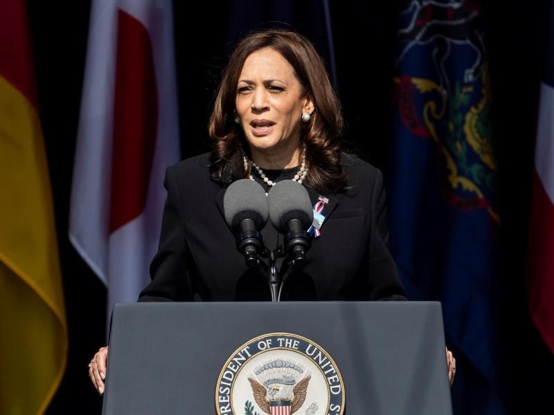 Kamala Harris homenajeó a víctimas del 11s