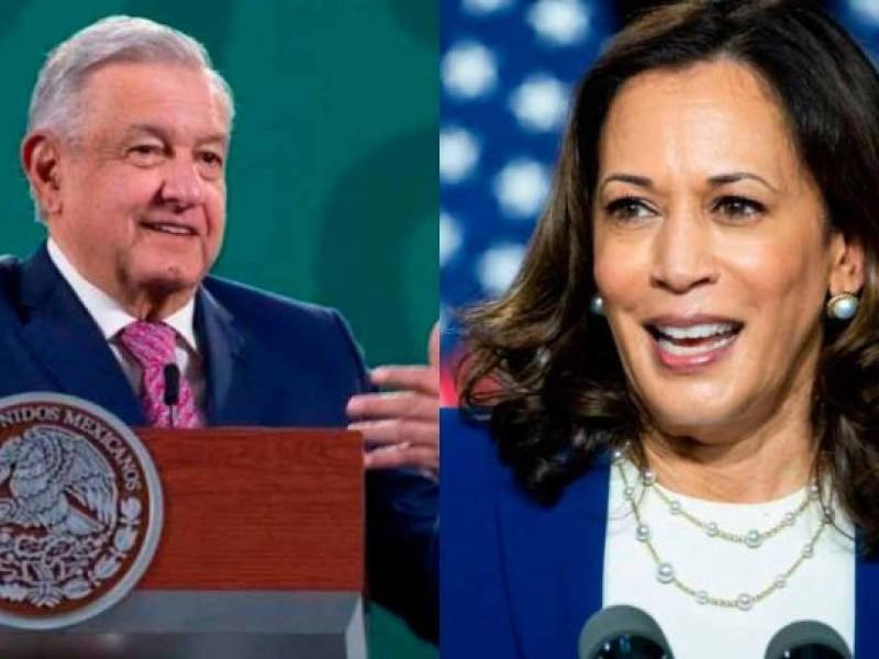 Kamala Harris visita México, se reúne con López Obrador