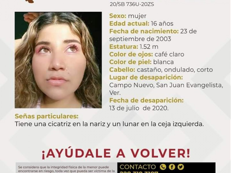 Karla Jazmín se extravió en San Juan Evangelista