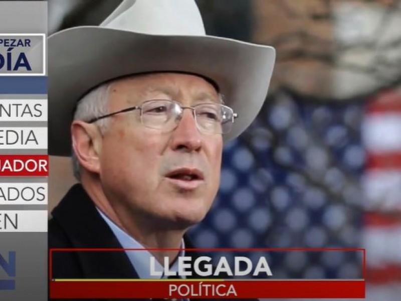 Ken Salazar, llega el nuevo embajador de EE.UU en México