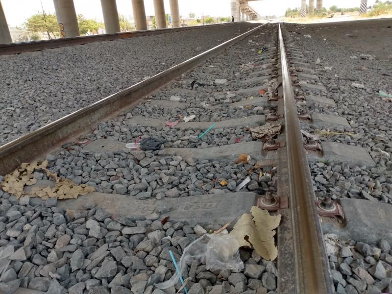 La basura en las vías del tren es una problemática