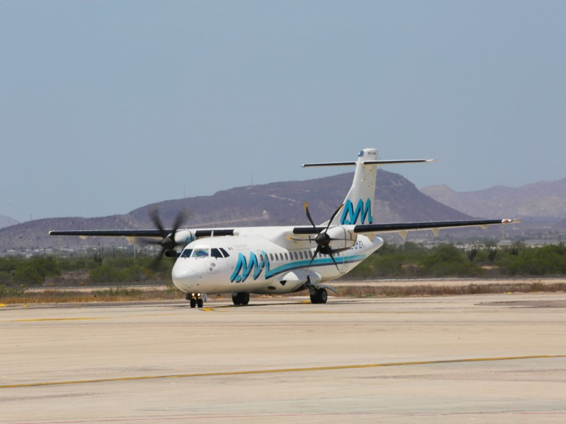 La capital recibió el vuelo inaugural Guadalajara-Mazatlán-La Paz
