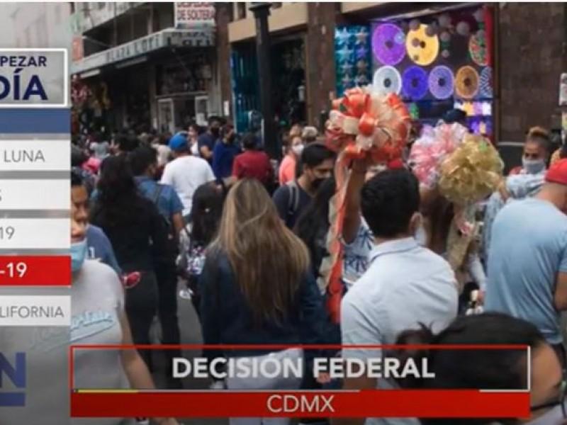 La CDMX está a un paso del semáforo rojo