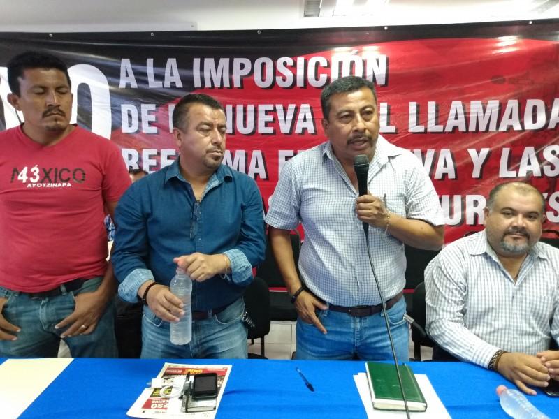 CNTE en Chiapas amaga con bloqueos carreteros