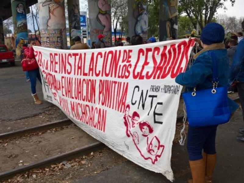 La CNTE presiona en Michoacán