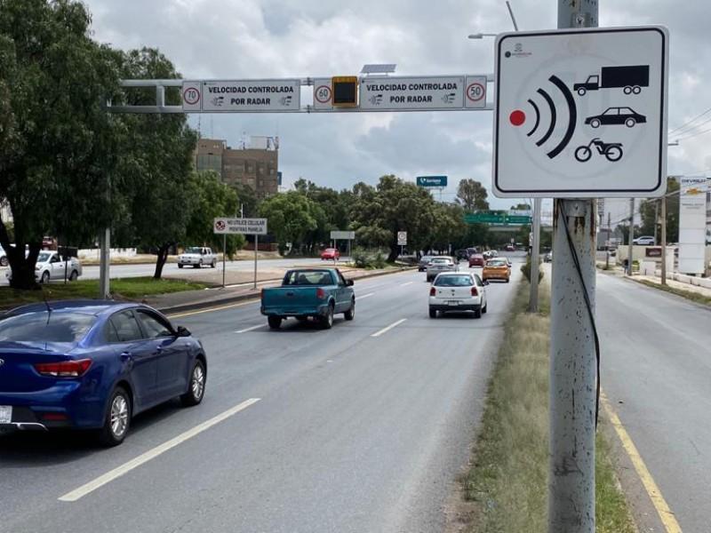 La colocación del radar de velocidad a reducido accidentes viales