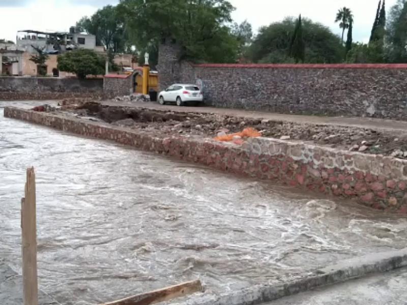 La comunidad de Amazcala afectada por las lluvias