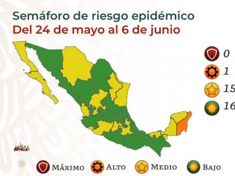 La mitad del país, en bajo riesgo por COVID-19