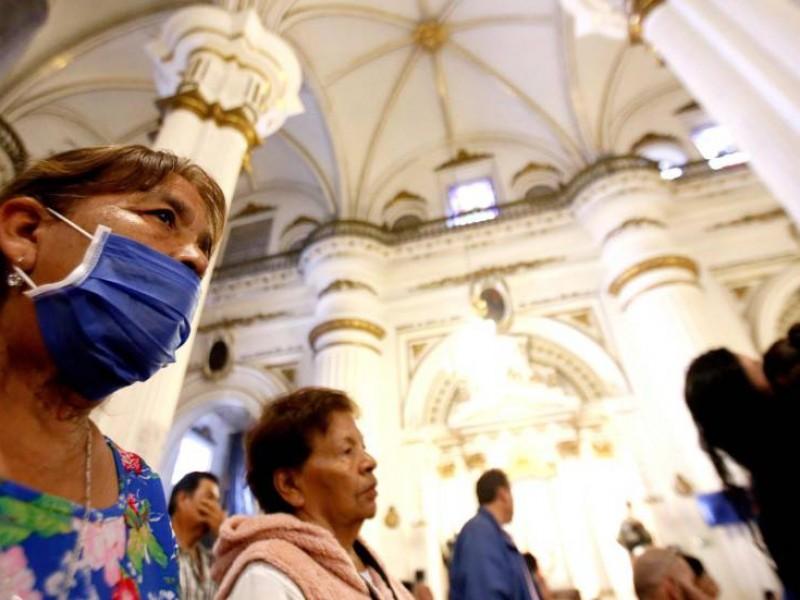 La propia iglesia vigila la sanidad dentro de templos: Salud