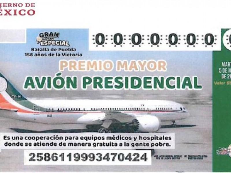 La rifa del avión presidencial va en serio